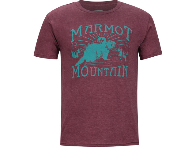 Marmot Sunrise SS Tee Men burgundy heather